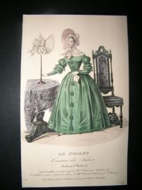 Le Follet C1840's Hand Coloured Fashion Print 574